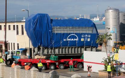 La Compañía Eléctrica de Gibraltar recibe los nuevos generadores de GNL