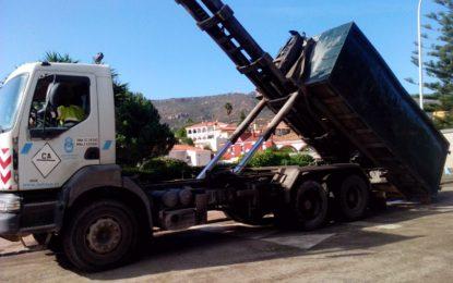 El Ayuntamiento instala contenedores en Santa Margarita y el Zabal para muebles y enseres inservibles por las lluvias