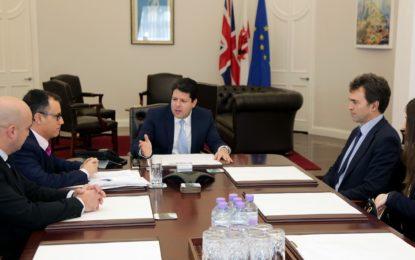 Picardo y García reciben al diputado Tom Brake, que reafirma su apoyo a Gibraltar