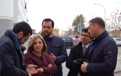 Irene García visita obras del Plan Invierte en La Línea con una inversión adjudicada de más de 265 mil euros