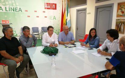 Rocío Arrabal y Miguel Tornay se reúnen con los representantes de CCOO en la Residencia Tiempo Libre de La Línea