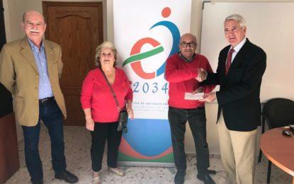 La Asociación 2034 entrega sendos donativos a la Fundación Vive y la Asociación de Esclerosis Múltiple
