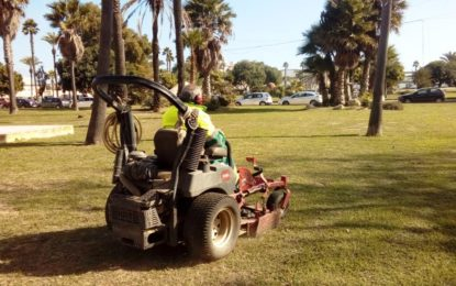 Parques y Jardines procede a la colocación por varias zonas de la ciudad de plantas cedidas por Diputación