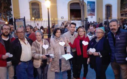 El PSOE de La Línea, presente en la concentración contra la violencia de género