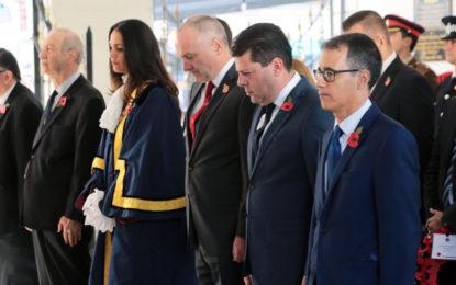 Ya el sábado se celebró en Gibraltar el aniversario del final de la Primera Guerra Mundial