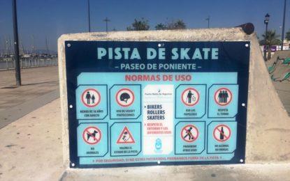El club de Skate agradece la colaboración municipal para el mantenimiento de las pistas de Poniente