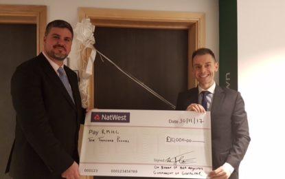 El Gobierno de Gibraltar dona 10.000 libras a la casa Ronald McDonald