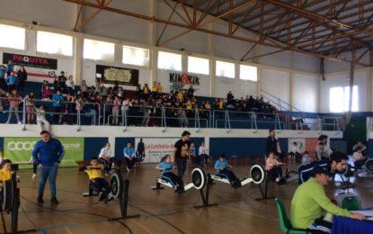 Campeonato Escolar de Remoergómetro en el Pabellón Polideportivo Municipal