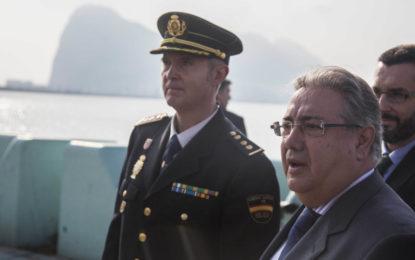 """Zoido: """"La eficacia policial ha conseguido incrementar un 300% las incautaciones de cocaína y un 45% las de hachís en el Campo de Gibraltar"""""""