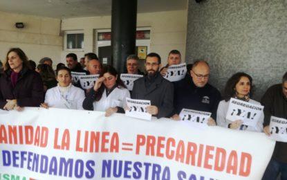 """Franco ha participado esta mañana en la concentración """"Por la Segregación"""" del hospital"""