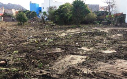 Acometidos trabajos de limpieza, desbroce y desratización en una parcela de San Pedro en virtud a una orden de ejecución de Disciplina Urbanística