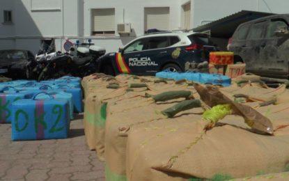 La Policía Nacional interviene más de ocho toneladas de hachís en dos operaciones contra el narcotráfico en Cádiz