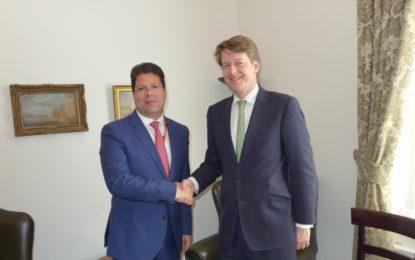 Parlamentarios británicos conocen a través de Fabian Picardo los problemas que rodean a Gibraltar con el Brexit