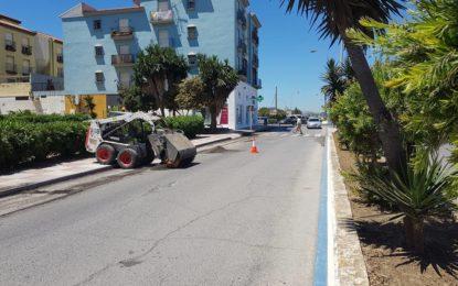 Sustituyen el gasoil por  agua del depósito de una fresadora que actuaba en el asfaltado de la calle Virgen  de la Palma