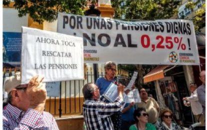 Concentración por las pensiones en La Línea el pasado sábado