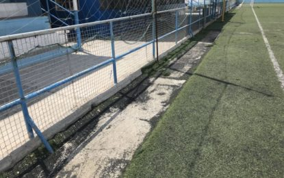 Deportes denuncia el robo de césped artificial instalado en  el campo de fútbol Antonio Reyes