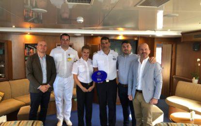 """El megayate de cruceros """"Harmony G"""" realiza su visita inaugural a Gibraltar."""