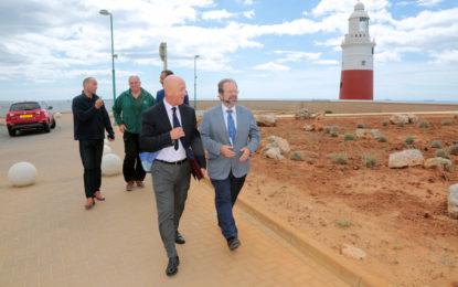 Inaugurados nuevos paneles informativos y una zona verde en Europa Point, en Gibraltar
