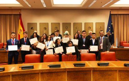 El alcalde participa en el Congreso de los Diputados en la entrega de un premio al instituto Antonio Machado