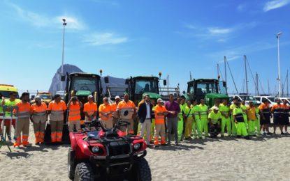 La inversión realizada por el Ayuntamiento para el acondicionamiento de playas esta temporada supera los 160.000 euros