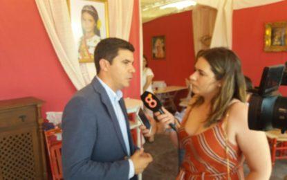 Sergio Romero (Ciudadanos) visita la Feria de La Línea y recoge iniciativas favorables para la ciudad (Con sonido)