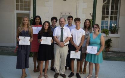 Nueve estudiantes de Gibraltar reciben premios académicos