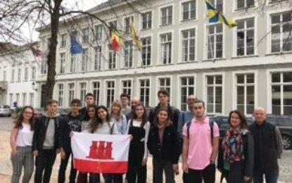 Los estudiantes de Gibraltar visitan el Parlamento Europeo en Bruselas