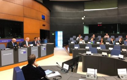 El Viceministro Principal, Joseph Garcia, explica el deseo de Gibraltar de tener una relación futura con la UE y su posición en el marco del Brexit a los eurodiputados del Grupo Verdes/ALE