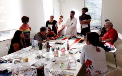 Finaliza el curso sobre pintura en tinta china con una exposición de trabajos realizados por los alumnos