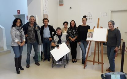 Lucia Palma Sarmiento, primer premio del Concurso de Pintura Rápida José Cruz Herrera