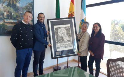 El alcalde ha recibido a la artista Lily Chu Chang