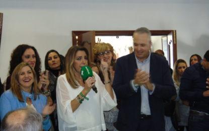 Susana Díaz advierte a Moreno de que Sierra Nevada «no se toca» y seguirá teniendo carácter público, en un acto con mayores en San Roque