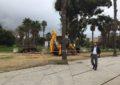 El alcalde inspecciona el comienzo de la remodelación de las zonas verdes del parque Princesa Sofía