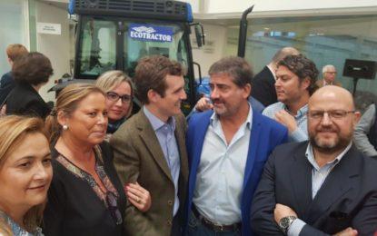 Juan Pablo Arriaga asiste al discurso de Pablo Casado en el acto celebrado por Asaja Cádiz en Jerez de la Frontera
