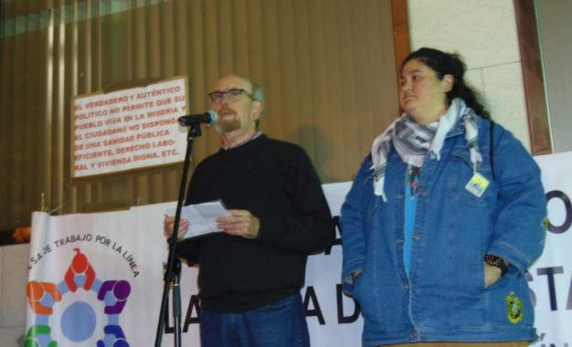 180 personas secundan la protesta organizada por la Mesa de Trabajo de La Línea