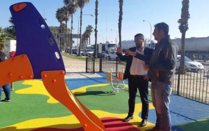 """El alcalde ha visitado el """"Parque de las Cuerdas"""" del Princesa Sofía, incluido en el proyecto de renovación de este tipo de instalaciones infantiles"""