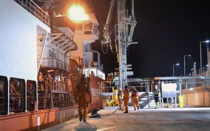 Primer ensayo exitoso de descarga de GNL para la nueva central eléctrica de Gibraltar