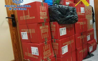 Una intervención conjunta de la Policía Nacional y Guardia Civil permite incautar cerca de 14.000 cajetillas de tabaco de contrabando