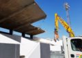 El alcalde ha inspeccionado las obras de demolición de la visera del Estadio Municipal