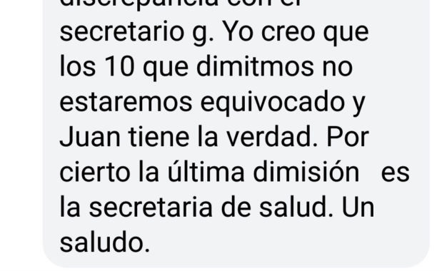 Salvador Moral Coca afirma que la secretaria de Salud de la Ejecutiva del PSOE linense ha dimitido