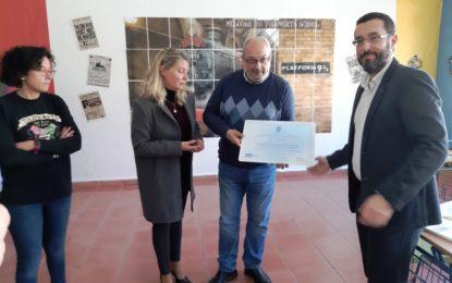 """El alcalde y la concejal de Educación reconocen la labor de profesores del Tolosa, galardonados con uno de los premios de Investigación e Innovación Educativa """"Antonio Ortiz"""""""