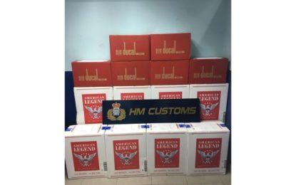 Diferentes efectivos del Servicio de Aduanas llevan a cabo dos exitosas operaciones contra el contrabando de tabaco