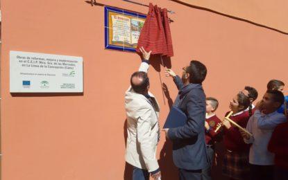 El alcalde ha participado en los actos organizados con motivo del 50 aniversario del colegio público Las Mercedes
