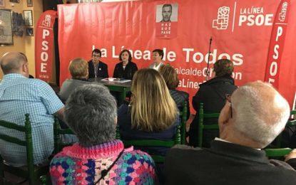 Los socialistas linenses explican en un acto público en La Línea sus propuestas para el futuro de las pensiones