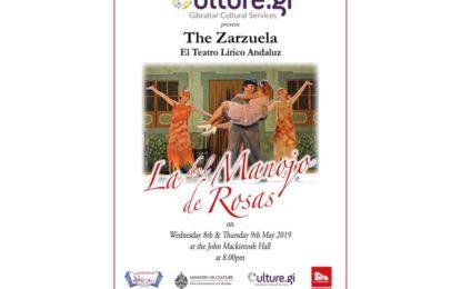 El Teatro Lírico Andaluz regresa a Gibraltar para representar la zarzuela 'La del Manojo de Rosas' en el marco del Festival de Primavera 2019