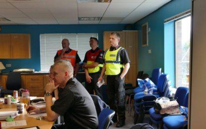 Personal del Servicio de Bomberos y Rescate del Aeropuerto de Gibraltar asiste al Curso de Comando de Incidentes del Reino Unido