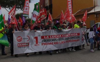 Masiva manifestación del primero de mayo en La Línea (con sonido de Ángel Serrano y Manuel Triano)