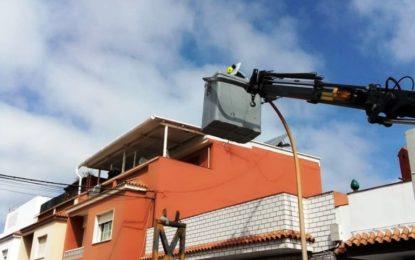 Iniciados los trabajos de sustitución de luminarias incluidos en el proyecto de Eficiencia Energética
