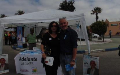 Fran Dorado, de Adelante La Línea, explicó a los linenses su proyecto político