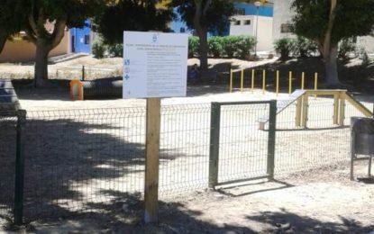 Finalizados los trabajos de instalación de un parque canino en Pueblo Avenida